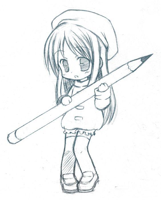 Cualquier Tipo, Sosteniendo, Nueva York, Mangas, Arte, Dibujar, Anime Manga Chibi Dibujos, Dibujos Chibis, Dibujos Kawaii Lindo