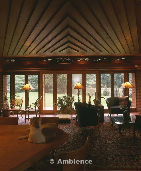 Glen Ridge New Jersey. Usonian Style. Frank Lloyd Wright.. Photo Alan  Weintraub | Frank Lloyd Wright  Usonian Homes | Pinterest U2026