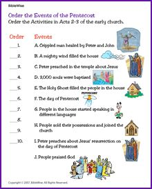 activities on pentecost
