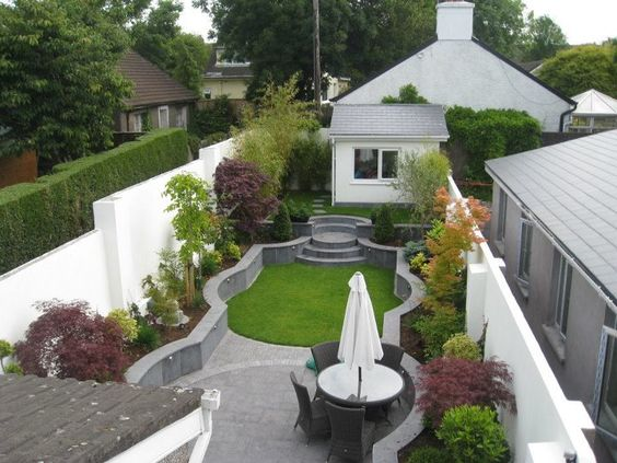 Long Narrow Backyard Design Ideas : Long and narrow  Garden Design Ideas  small rear garden  Pinterest