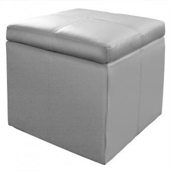Coffre pouf triange argent 76 59 le coffre pouf for Que mettre au dessus d un canape