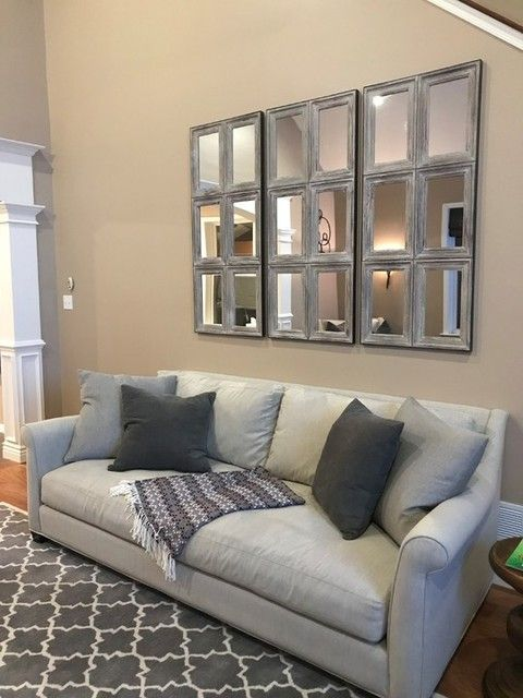 Aiden Large Paneled Wall Mirror In 2020 Large Wall Decor Living Room Above Couch Decor Family Room Wall Decor