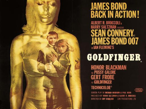 Robert Brownjohn's design for the Goldfinger poster.