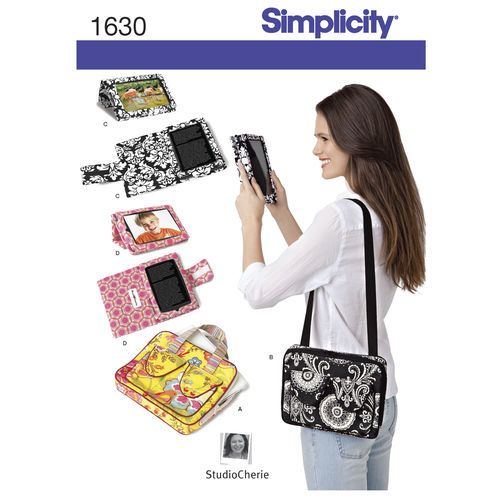Simplicity Pattern 1630 E-Book Covers & Carry Case for Tablets: