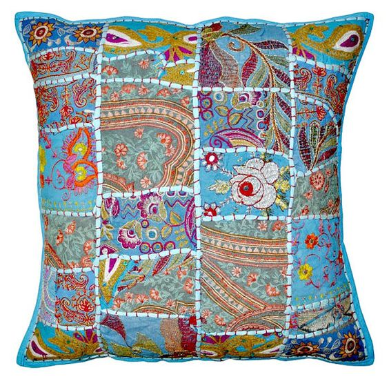 24 X24 XL pillow patchwork Indian Decorative by JaipurHandloom, $22.99