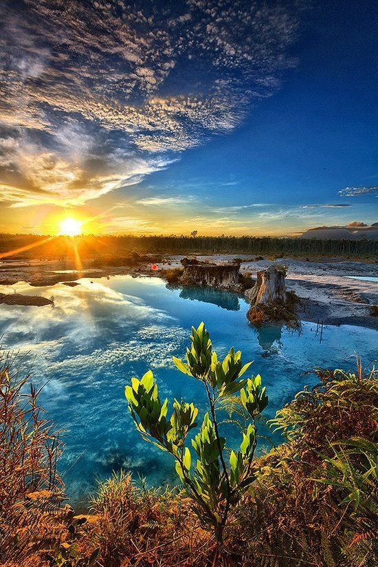 Blue Lake Singkawang Indonesia 14 Attractive Travel Destinations Around the World