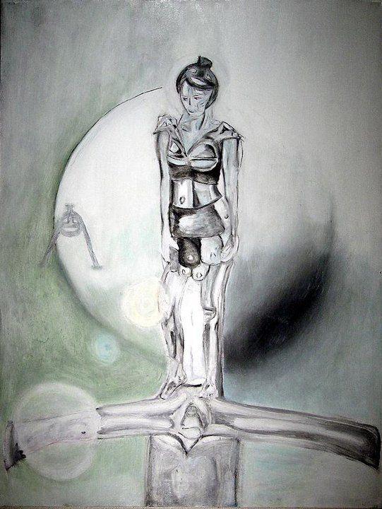 """""""Crystal Sword""""  Oil on Canvas  30"""" x 40"""""""