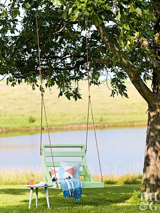 Build A Hanging Swing Chair For Less Than 100 Swing Chair Outdoor Hanging Swing Chair Swinging Chair
