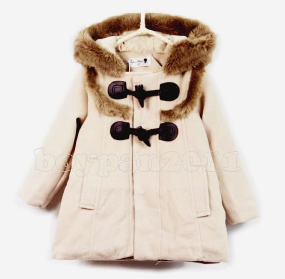 New Kids Toddlers Girls Fashion Winter Coat Snowsuits With Hooded