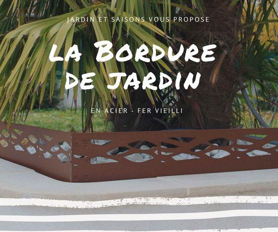 Bordure De Jardin En Acier Fer Vieilli Ultra Tendance Bordure