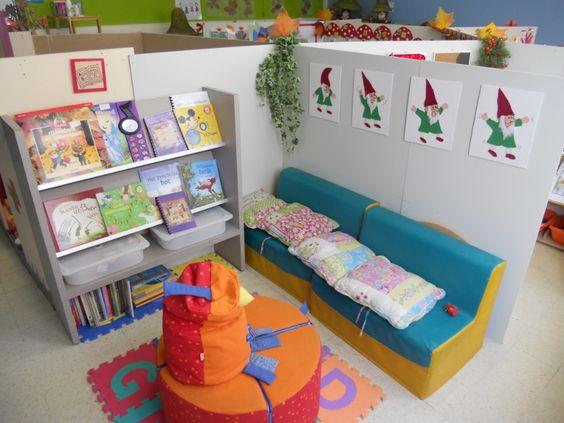 Inrichting Schoolbibliotheek  Meer dan idee u00c3  n over leeshoek school op pinterest