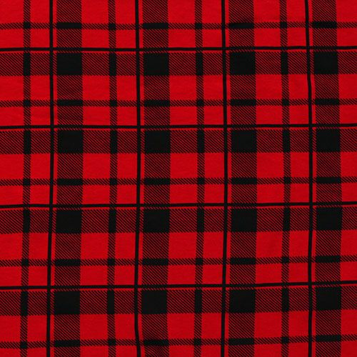 black red buffalo plaid cotton spandex knit fabric a top quality true red cotton spandex knit. Black Bedroom Furniture Sets. Home Design Ideas