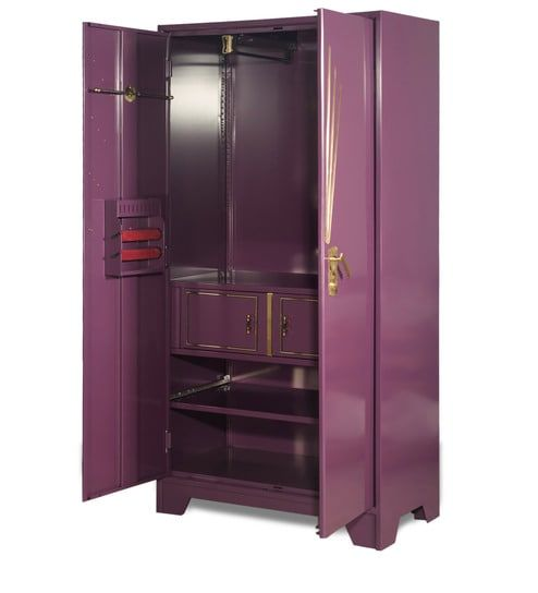 Centurion Steel Wardrobe In Purple Finish By Godrej Interio
