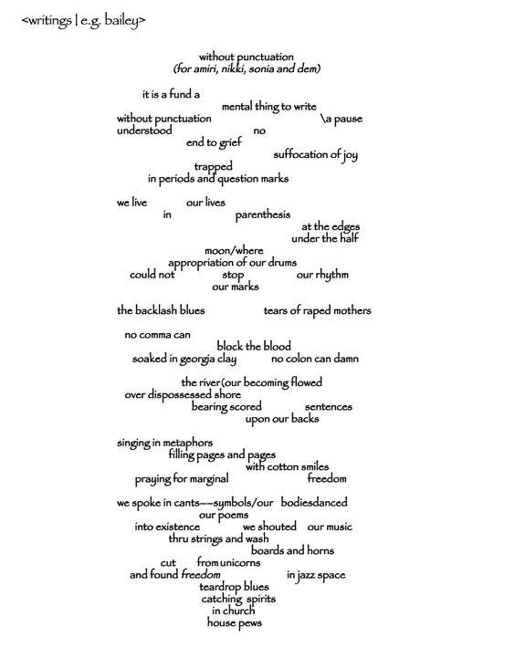 without-punctuation-poem-page-1 | school lit | Pinterest ...