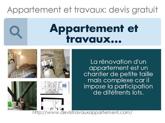 Appartement et travaux devis gratuit Devis travaux appartement