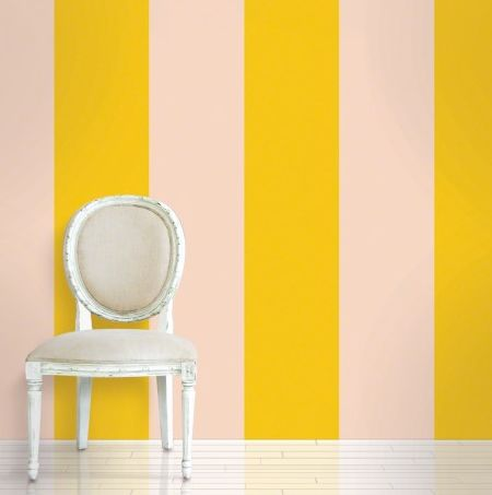 #dailydeal $219 Wall Candy Arts Removable Wallpaper - Stripes Sorbet