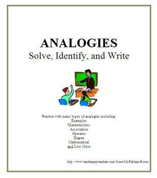 Analogies - Solve, Identify, and Write - Worksheet Set   Pinterest ...