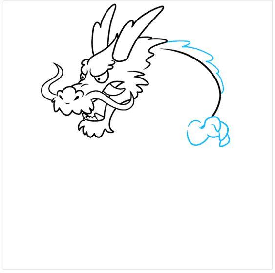 Cách Vẽ Một Con Rồng Nhật Bản Siêu Đẹp