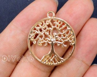 20pcs of Antique Rose Gold Tree of life Charms pendants 29x25mm