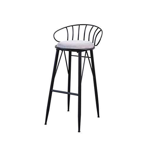 Lrzs Furniture Simple Bar Chair Iron Art Bar Chair Colorful High