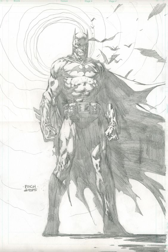 David Finch - Batman pencil