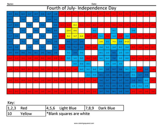 fourth of july math activities for kindergarten