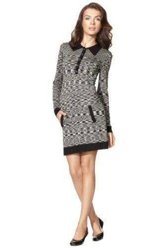 Missoni Women's Space Dye Knit Polo Shirtdress - Black & White - Medium (M) by Missoni, http://www.amazon.com/dp/B006MNIO98/ref=cm_sw_r_pi_dp_VGRfqb0XDJWHT