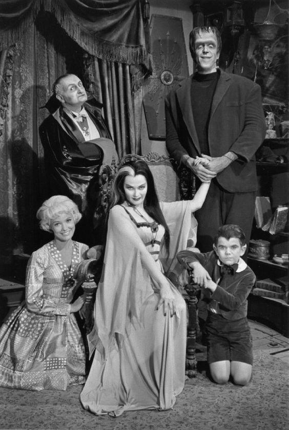 The Munsters: Herman, Lily, Eddie, Grandpa and Marilyn.
