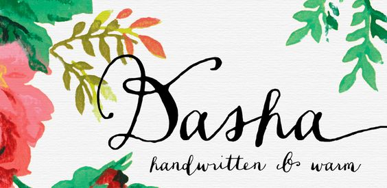 Fonts - Dasha by Magpie Paper Works - HypeForType Font Shop