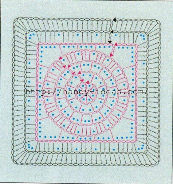 Квадраты, связанные крючком своими руками (часть 2).