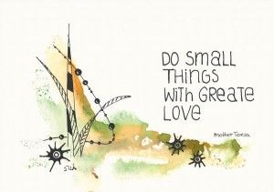 Handlettering card - do small things
