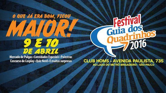 WEB TV VISUAL-ARTV: VISUAL ARTV - FESTIVAL GUIA DE QUADRINHOS 2016