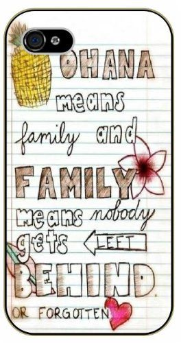 Amazon.com: Ohana means family, family means nobody gets left behind or forgotten - Notebook, Inspired by Lilo And Stitch - iPhone 5C black plastic case / Inspiration Walt Disney quotes: Cell Phones & Accessories