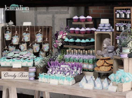 candy postres showers mint rustic baby purple rustic baby showers baby