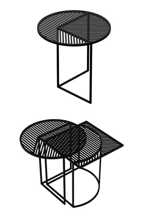 Round steel coffee #table ISO-A by PETITE FRITURE   #design Pool @Petite Friture