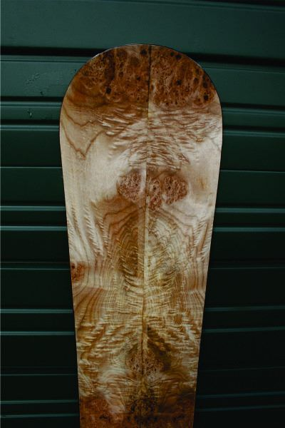 Burl wood veneer snowboard   OZ Snowboards & Splitboards ...