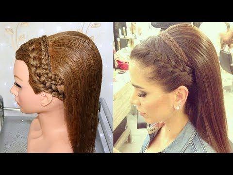 Recogido Alto Elegante Con Trenzas Para Novia Quinceanera Gradua Peinado De Fiesta Cabello Corto Peinados Con Trenza Francesa Peinados Con Trenzas Elegantes