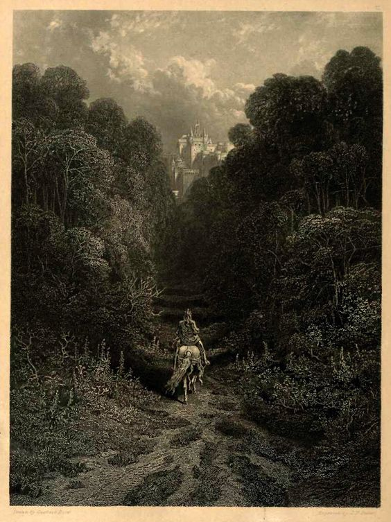 02- Lancelot aproximandose al castillo de Astolat