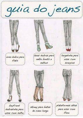 Guia de barras de acordo com o tipo de sapato. Muito útil, não é mesmo, meninas?