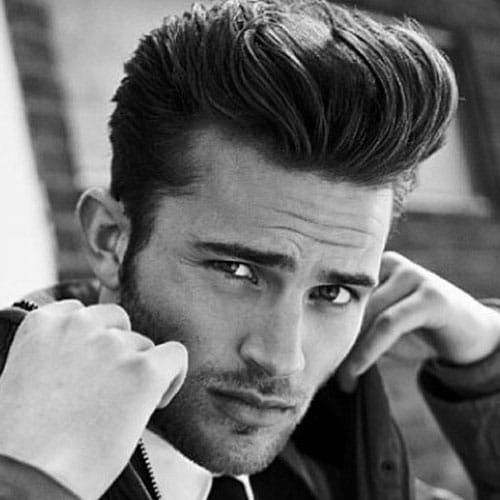 Greaser Hair Classic Quiff Pompadour Hairstyle Pompadour Men Mens Hairstyles Pompadour