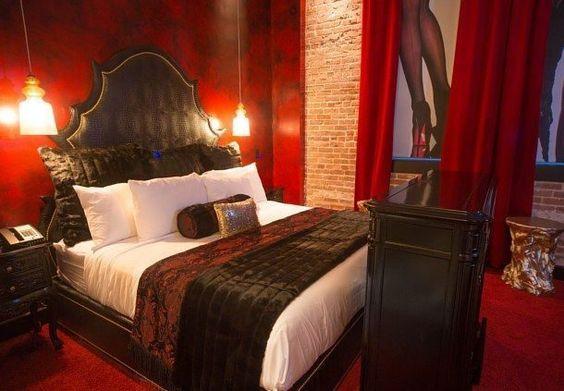Lucifer Suite At Saint Hotel Has Private Stage Secret Surprises Stripper Poles Saints And Bath