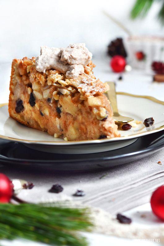 Saftiger Bratapfelkuchen Mit Knuspriger Mandelkruste Bratapfelkuchen Apfelkuchen Kuchen