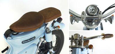 "Honda C70 ""The Little Blue"" by Deus Ex Machina - Lsr Bikes"