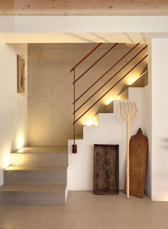 decoracin de paredes de escalera los materiales modernos usados en la