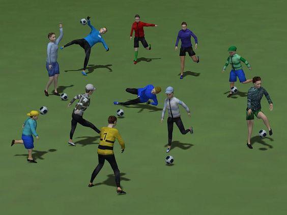 Elf junge Fussballspieler-Figuren und ein Ball. Ab #EEP8 http://bit.ly/Elf-junge-Fussballspieler-Figuren-und-ein-Ball