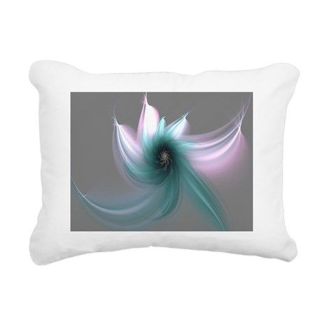 Dancing Flower Rectangular Canvas Pillow