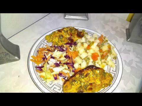 وجبة عشاء سريعة سلايط واسكلوب محشي بالفروماج في الفرن أكلة صحية ولذيذة Youtube Food Vegetables Cauliflower
