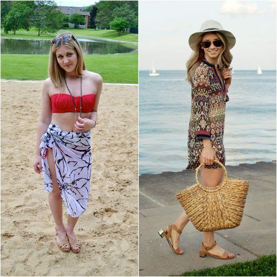summer beach bikini cover up style