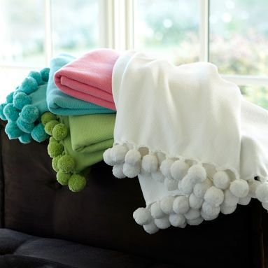Pom Pom Organic Throw White The O Jays Products And
