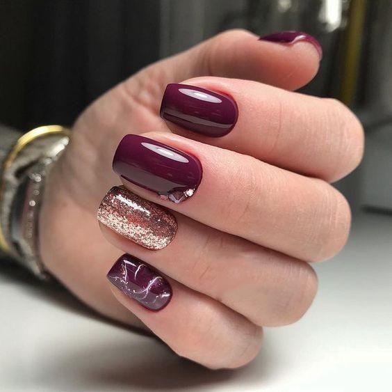 36 Pretty Trending Fall Nails Burgundy Nails Fall Gel Nails Red Acrylic Nails